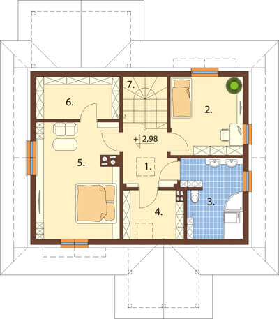 Projekt domu DM-6533 - rzut