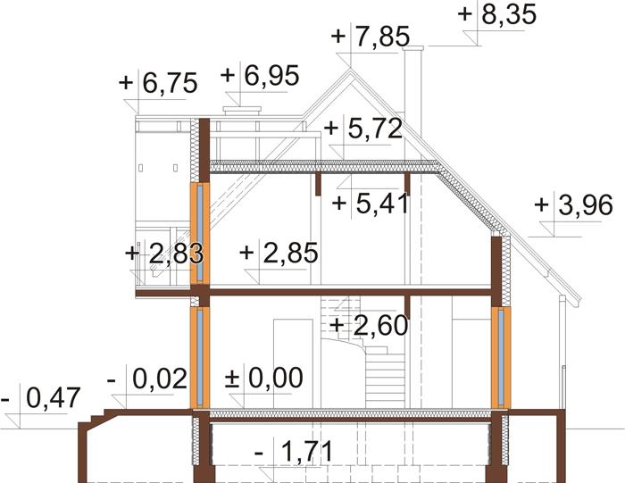 Projekt domu DM-6190 - przekrój