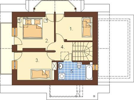 Projekt domu DM-6190 - rzut