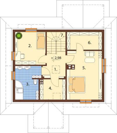 Projekt domu L-6533 - rzut