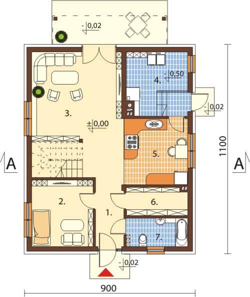 Projekt domu DM-6534 - rzut