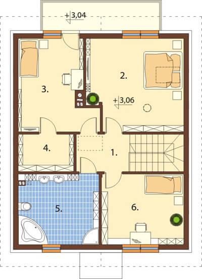 Projekt domu L-6534 - rzut