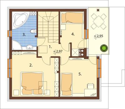 Projekt domu DM-6536 - rzut