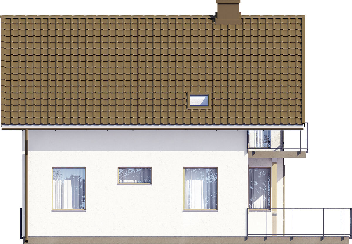 Projekt domu L-6536 - elewacja