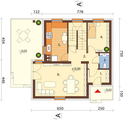 Projekt domu L-6536 - rzut