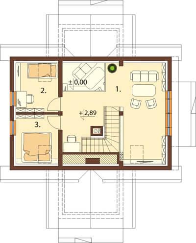 Projekt domu DM-6538 - rzut