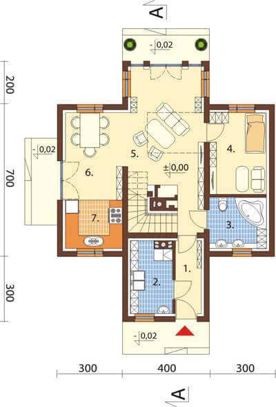 Projekt domu L-6538 - rzut