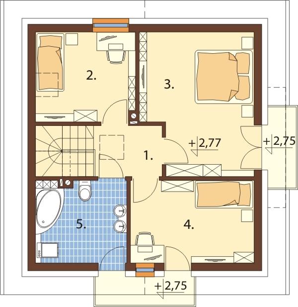 Projekt domu DM-6539 - rzut