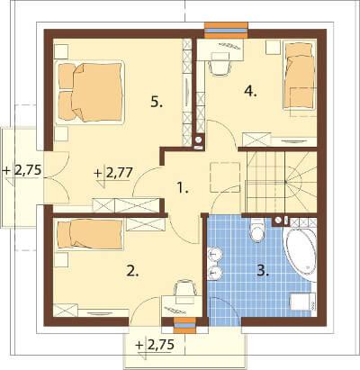 Projekt domu L-6539 - rzut