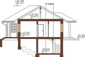 Projekt domu DM-6191 - przekrój