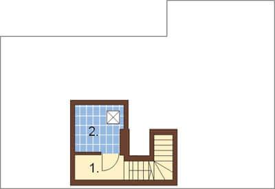 Projekt domu DM-6191 - rzut