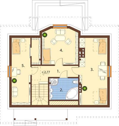 Projekt domu L-6541 - rzut