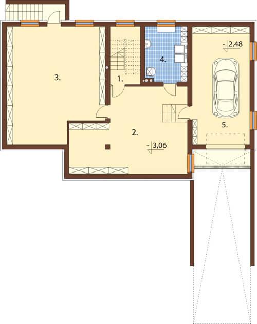 Projekt domu DM-6551 - rzut