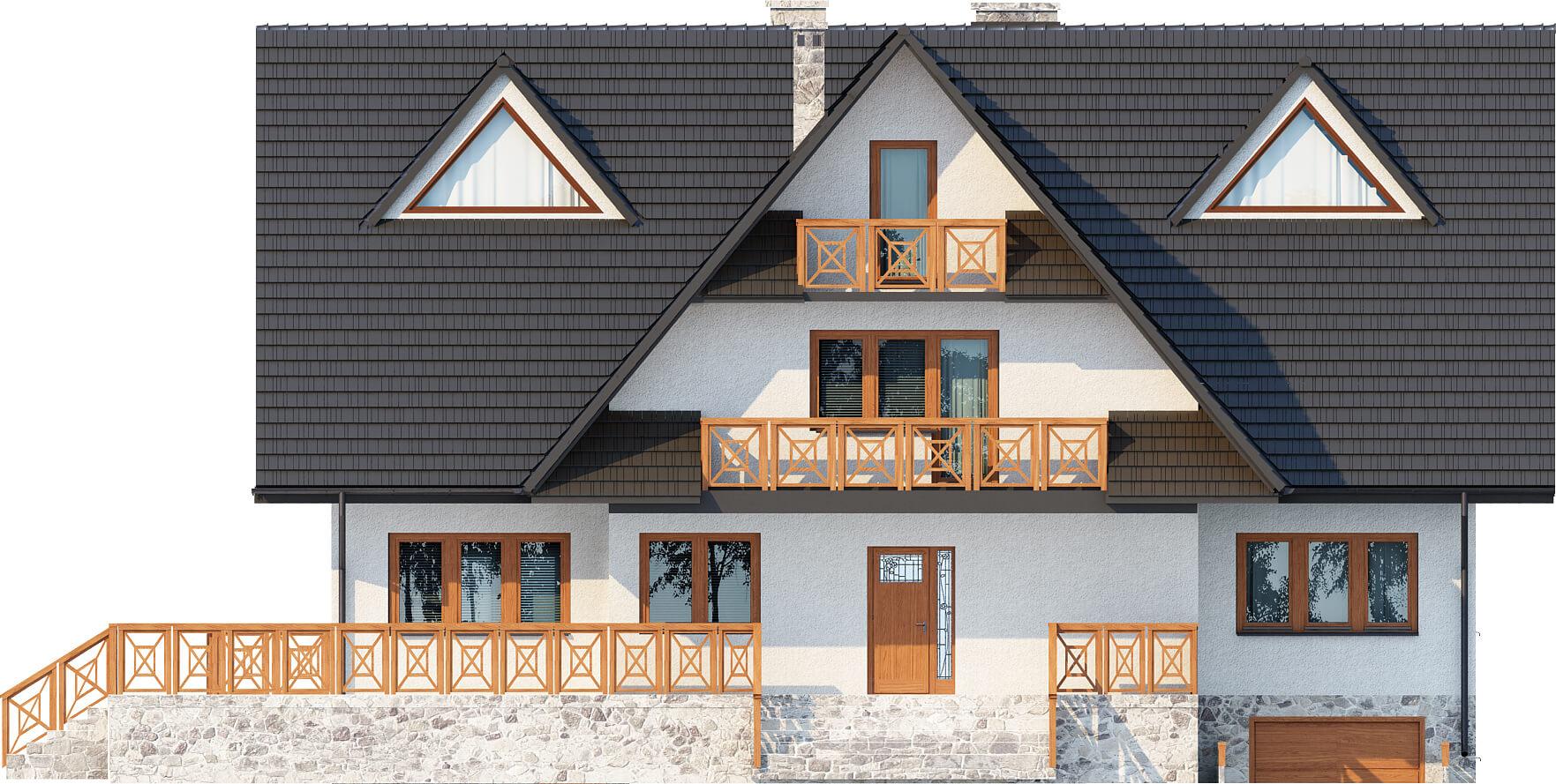 Projekt domu DM-6551 - elewacja