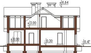 Projekt domu DM-6192 - przekrój