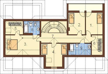 Projekt domu DM-6192 - rzut