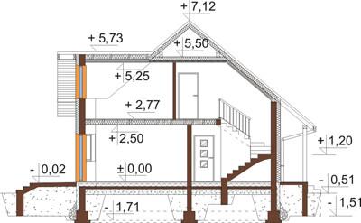 Projekt domu DM-6541 - przekrój