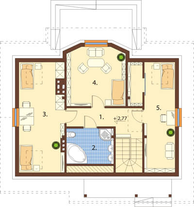 Projekt domu DM-6541 - rzut