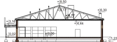 Projekt K-78 - przekrój