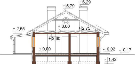 Projekt domu DM-6546 - przekrój