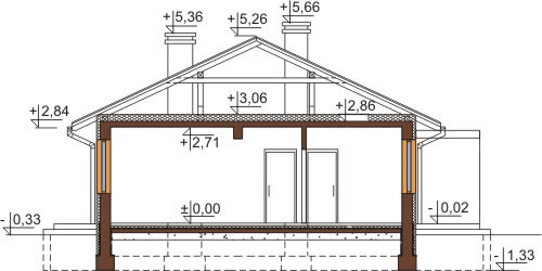 Projekt domu DM-6570 - przekrój