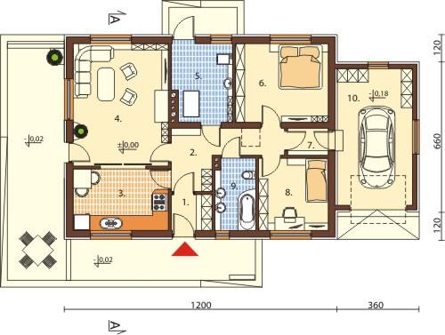 Projekt domu DM-6570 - rzut