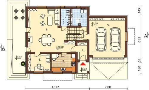 Projekt domu DM-6571 - rzut