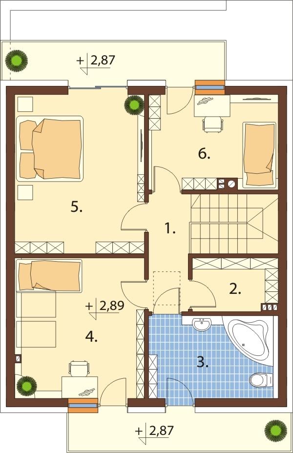 Projekt domu DM-6545 - rzut