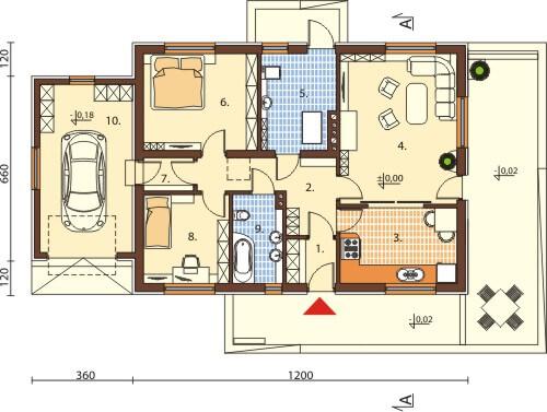 Projekt domu L-6570 - rzut