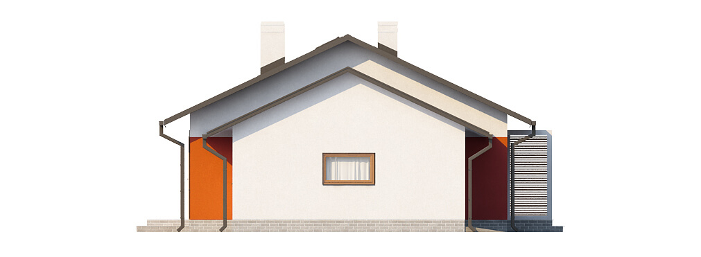 Projekt domu L-6570 - elewacja