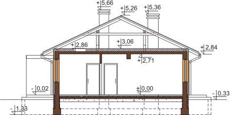 Projekt domu L-6570 - przekrój