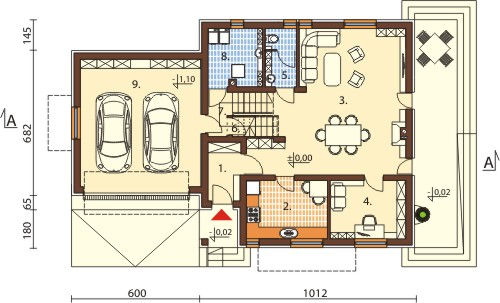 Projekt domu L-6571 - rzut