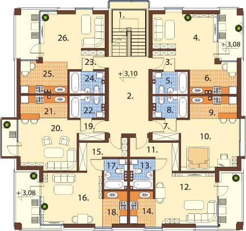 Projekt domu DM-6549 - rzut