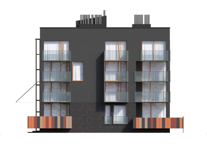 Projekt domu DM-6549 - elewacja