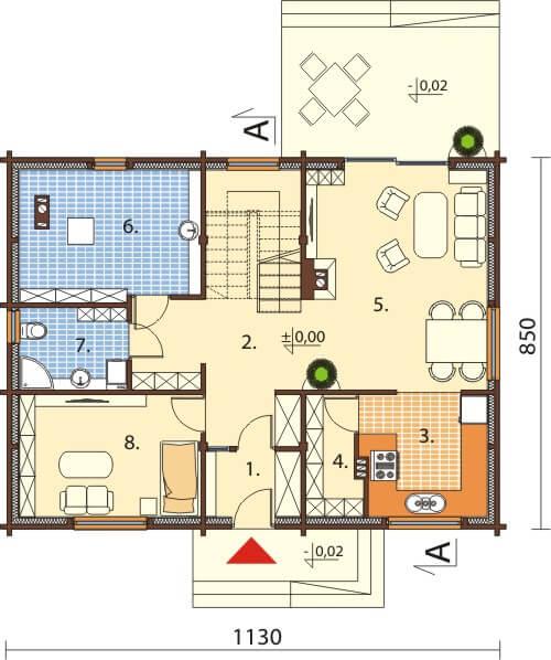 Projekt domu DM-6542 - rzut