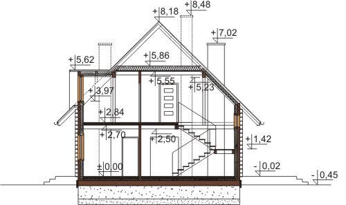 Projekt domu DM-6542 - przekrój