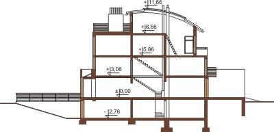 Projekt domu DM-6195 - przekrój
