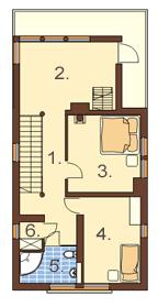 Projekt domu DM-6195 - rzut