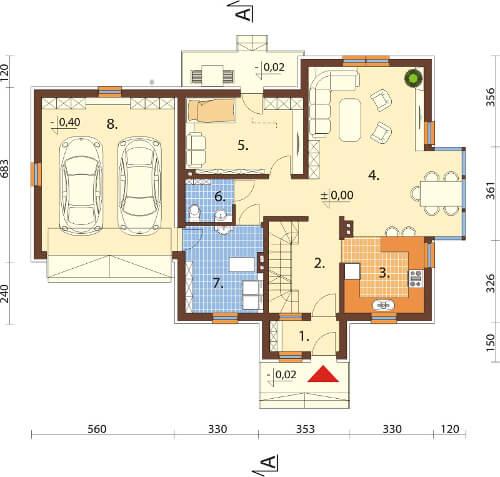 Projekt domu DM-6573 - rzut