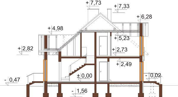 Projekt domu DM-6573 - przekrój