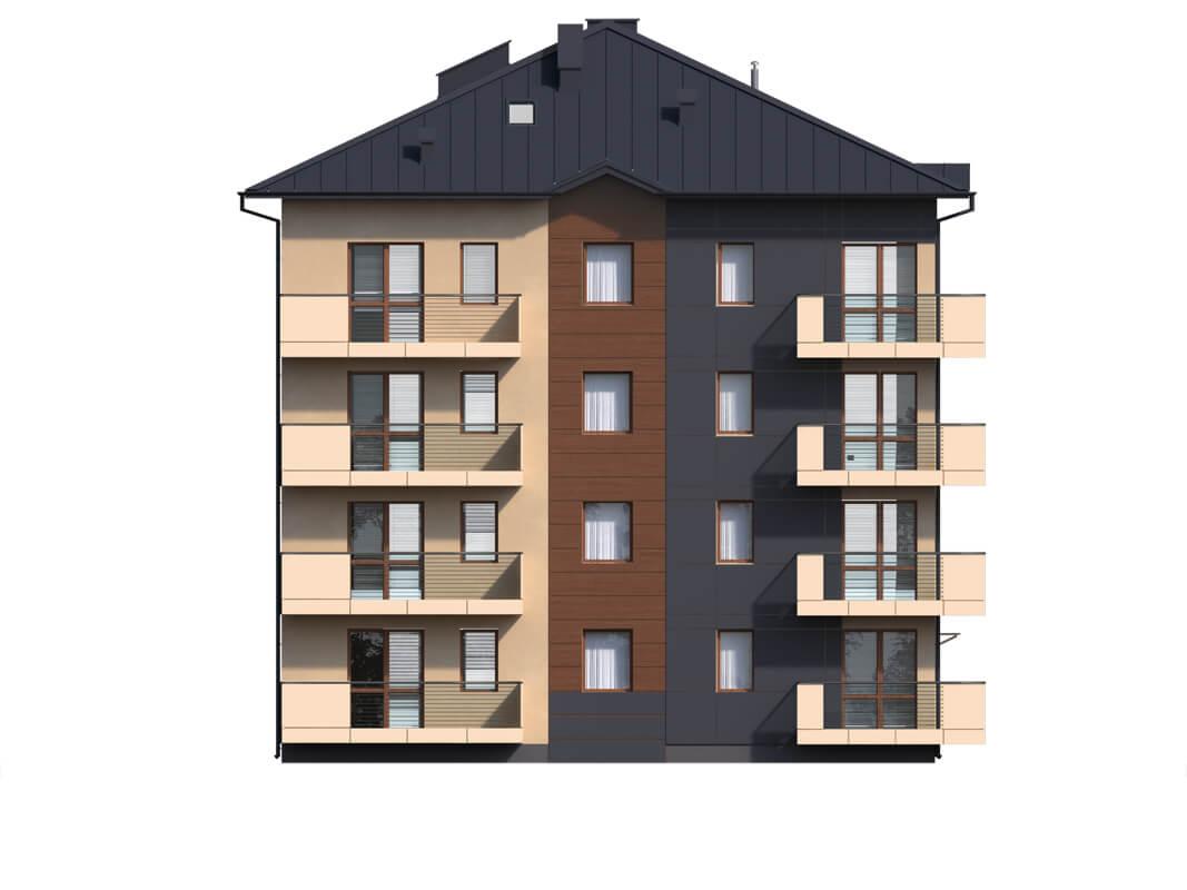 Projekt domu DM-6496 B - elewacja