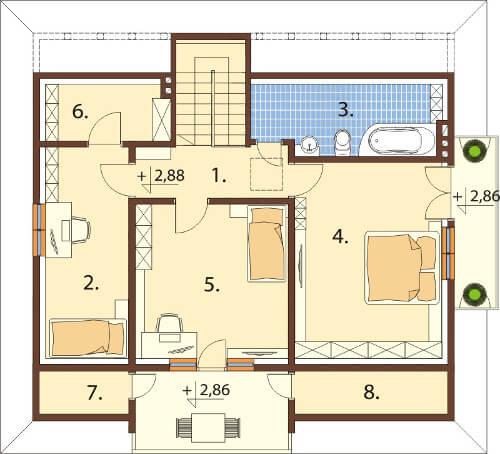 Projekt domu DM-6575 - rzut