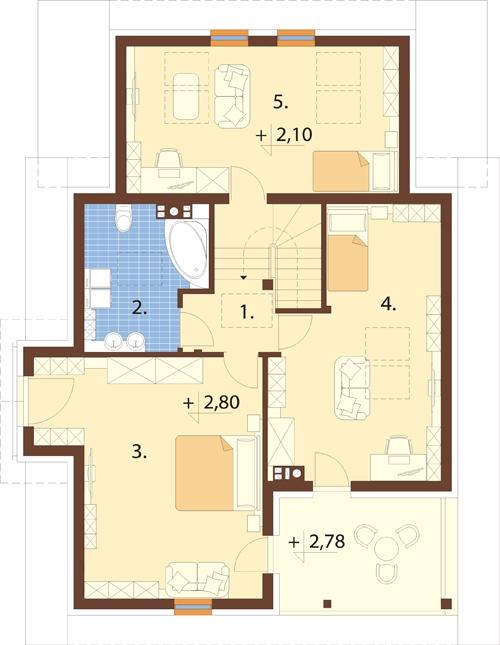 Projekt domu L-6574 - rzut
