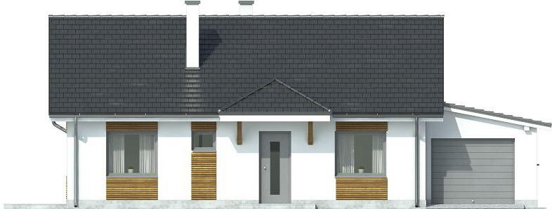 Projekt domu L-6546 - elewacja