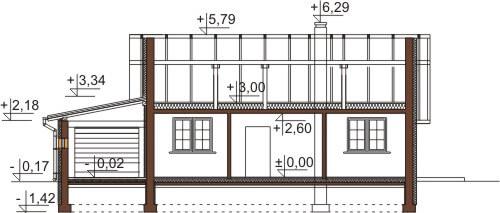 Projekt domu L-6546 - przekrój