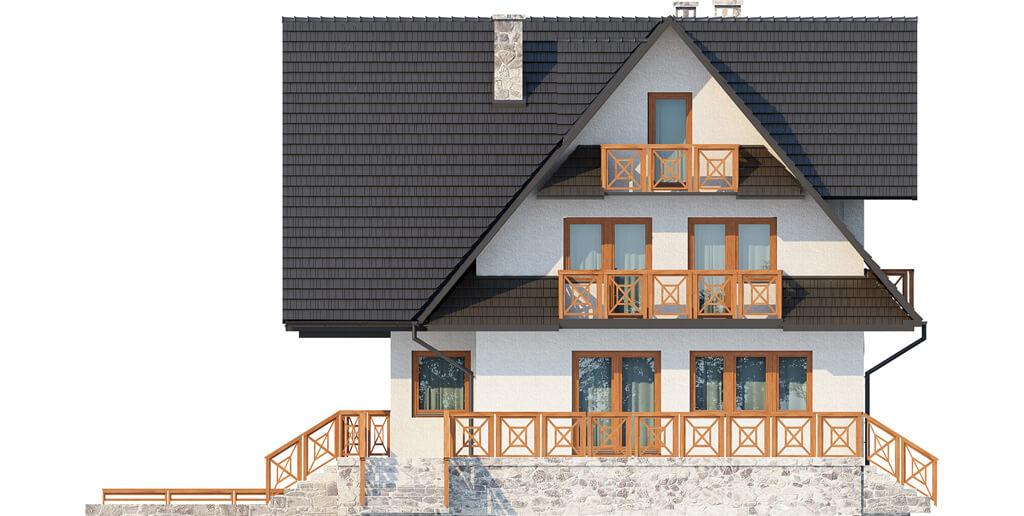 Projekt domu L-6551 - elewacja