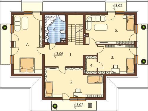 Projekt domu L-6551 - rzut