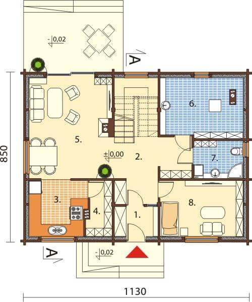 Projekt domu L-6542 - rzut