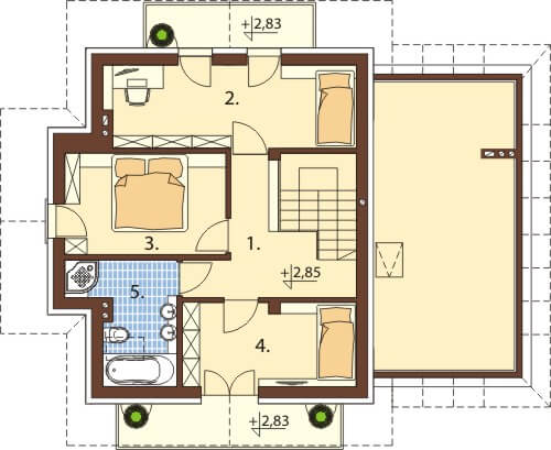 Projekt domu DM-6576 - rzut