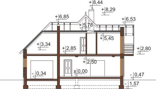 Projekt domu DM-6576 - przekrój
